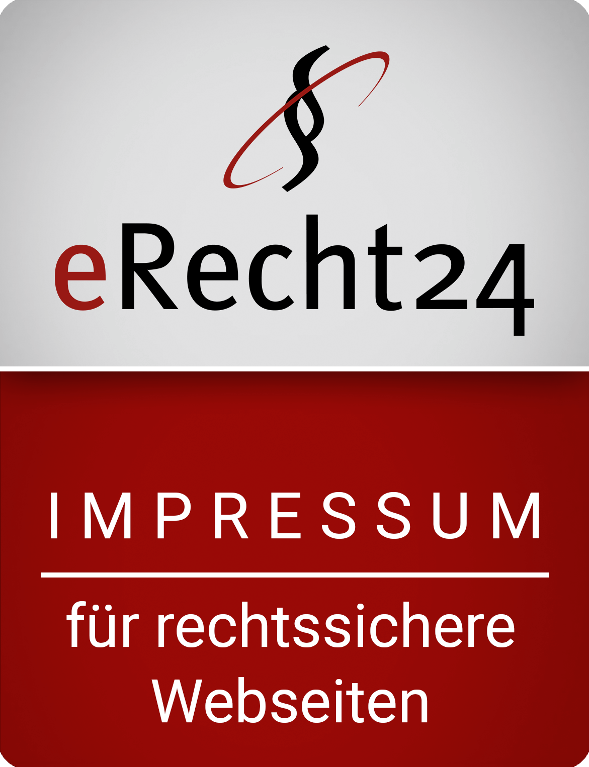 erecht24 siegel impressum rot gross